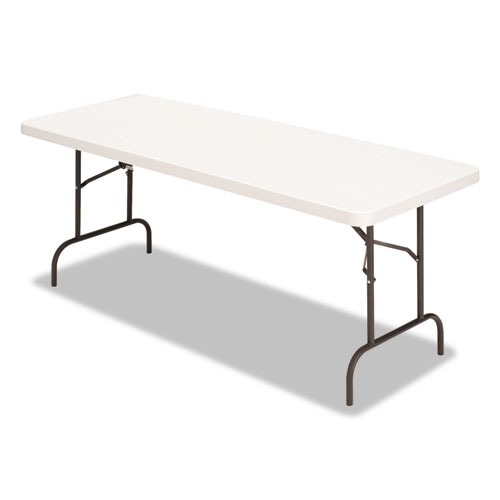 Image for Banquet Folding Table, Rectangular, Radius Edge, 60 X 30 X 29, Platinum/charcoal