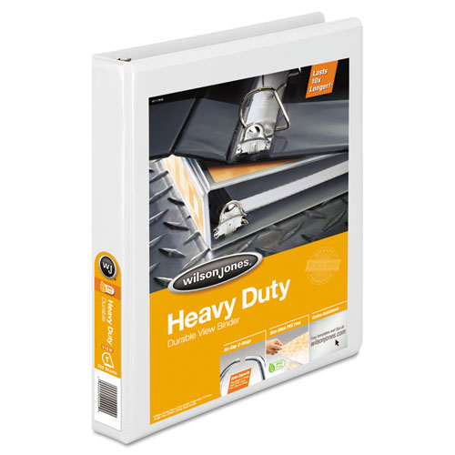 HEAVY-DUTY D-RING VIEW BINDER WITH EXTRA-DURABLE HINGE, 3 RINGS, 1