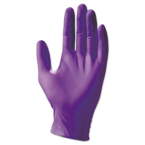 Purple Nitrile Sterile Exam Gloves, Powder-Free, 252 Mm Length, Large, 50 Pair/box