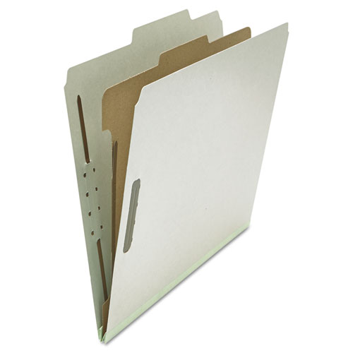 FOUR-, SIX- AND EIGHT-SECTION CLASSIFICATION FOLDERS, 1 DIVIDER, LETTER SIZE, GRAY, 10/BOX