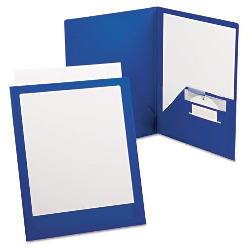 Viewfolio Plus Polypropylene Portfolio, 50-Sheet Capacity, Blue/clear