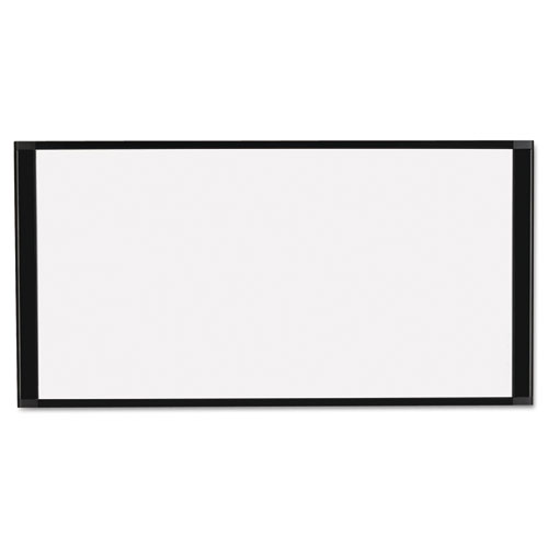 Cubicle Workstation Dry Erase Board, 36 X18, Black Aluminum Frame