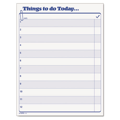 Image for 'Things To Do Today' Daily Agenda Pad, 8 1/2 X 11, 100 Forms