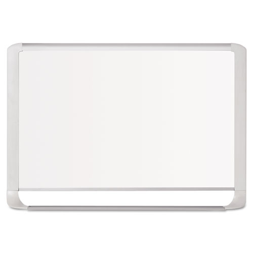 Lacquered Steel Magnetic Dry Erase Board, 48 X 96, Silver/white