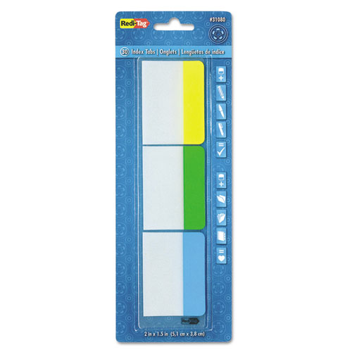 WRITE-ON INDEX TABS, 1/5-CUT TABS, ASSORTED COLORS, 2