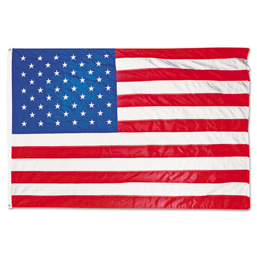 Image for All-Weather Outdoor U.s. Flag, Heavyweight Nylon, 5 Ft X 8 Ft