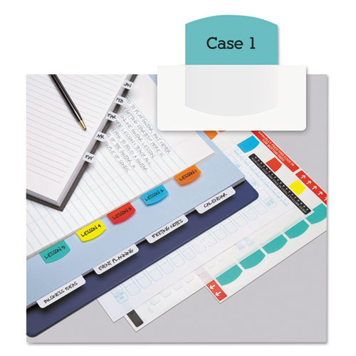 LASER PRINTABLE INDEX TABS, 1/5-CUT TABS, ASSORTED COLORS, 1.13
