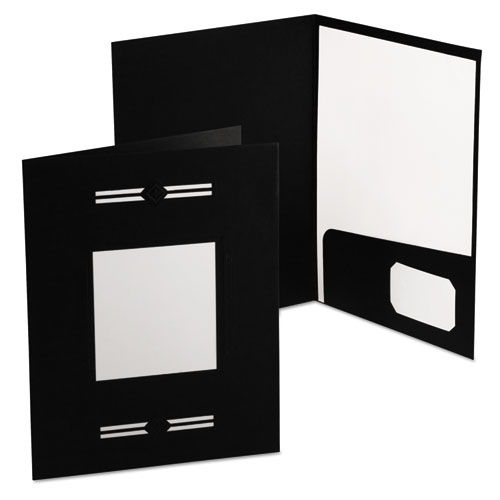 Imperial Series Laserview Business Portfolio, Premium Paper, Black, 10/pack