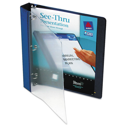 SEE-THRU VIEW BINDER WITH ROUND RINGS, 3 RINGS, 1