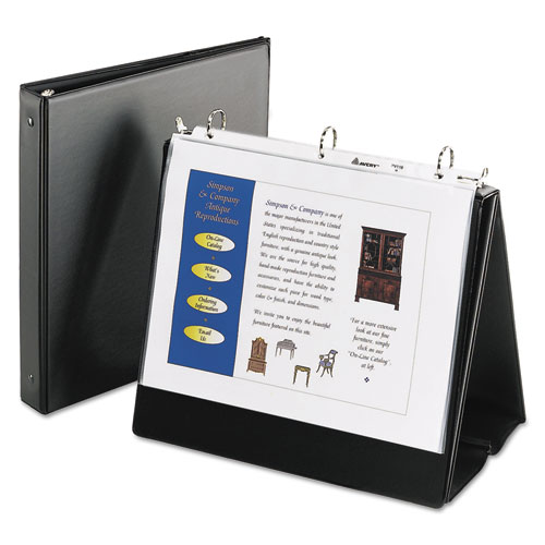 EASEL PRESENTATION DURABLE BINDER WITH ROUND RINGS, 3 RINGS, 1