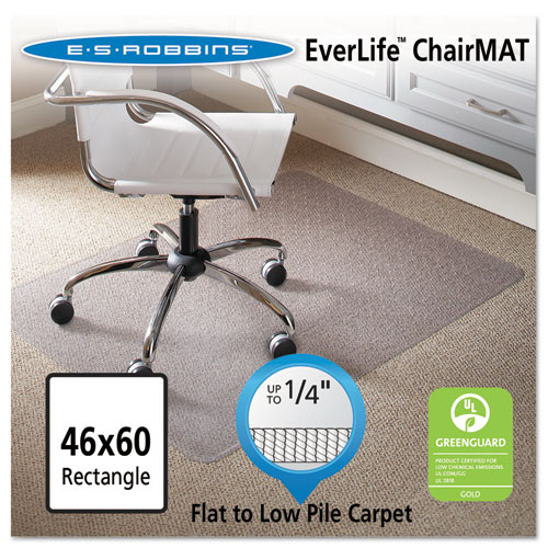 Esrobbins 46 X 60 Rectangle Chair Mat, Task Series Anchorbar For Carpet Up To 1/4