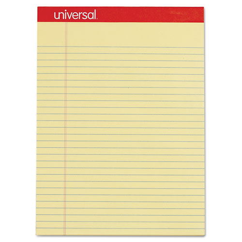 Image for PERFORATED WRITING PADS, WIDE/LEGAL RULE, 8.5 X 11.75, CANARY, 50 SHEETS, DOZEN