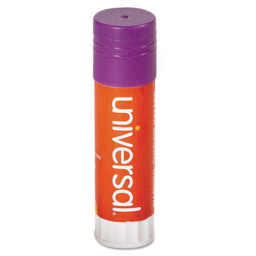 GLUE STICK, 1.3 OZ, APPLIES PURPLE, DRIES CLEAR, 12/PACK