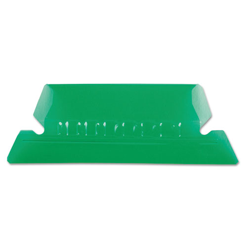 TRANSPARENT COLORED TABS FOR HANGING FILE FOLDERS, 1/5-CUT TABS, GREEN, 2