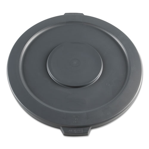 Image for LIDS FOR 32 GAL WASTE RECEPTACLE, FLAT-TOP, ROUND, PLASTIC, GRAY