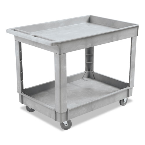 Image for Utility Cart, Two-Shelf, Plastic Resin, 24w X 40d, Gray