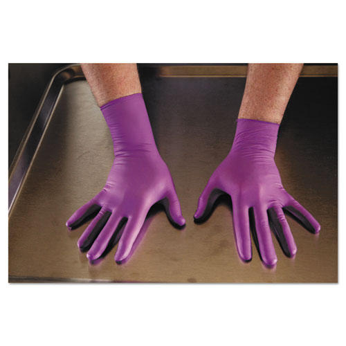 Purple Nitrile Exam Gloves, 310 Mm Length, Large, Purple, 500/ct