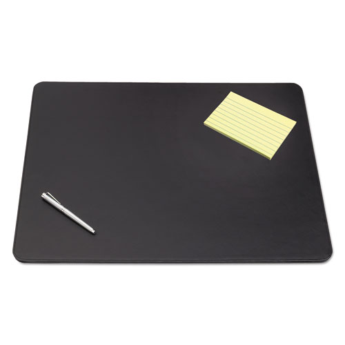 Sagamore Desk Pad W/decorative Stitching, 36 X 20, Black
