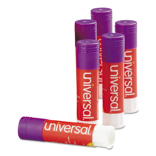 GLUE STICK, 0.28 OZ, APPLIES PURPLE, DRIES CLEAR, 12/PACK