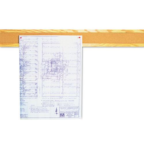 Cork Bulletin Board Border, Natural Cork, 48 X 5, Oak Frame