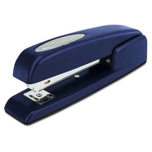 747 Business Full Strip Desk Stapler, 25-Sheet Capacity, Royal Blue