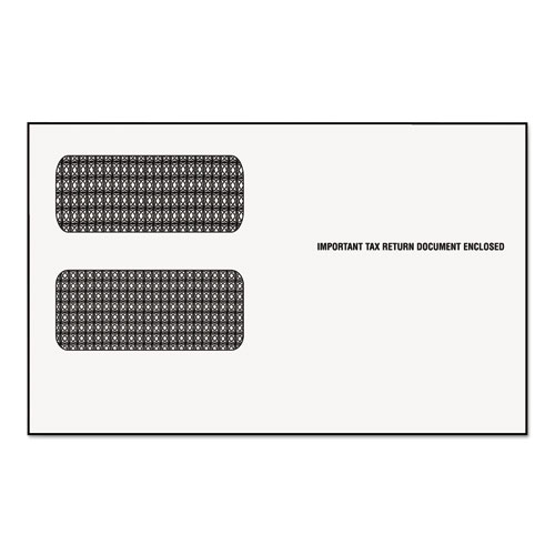Image for 1099 DOUBLE WINDOW ENVELOPE, COMMERCIAL FLAP, GUMMED CLOSURE, 5.63 X 9.5, WHITE, 24/PACK
