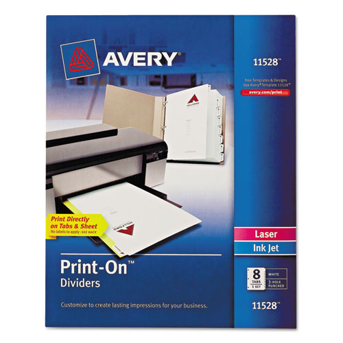 Customizable Print-On Dividers, 8-Tab, Letter