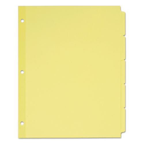 WRITE AND ERASE PLAIN-TAB PAPER DIVIDERS, 5-TAB, LETTER, BUFF, 36 SETS