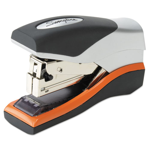 OPTIMA 40 COMPACT STAPLER, 40-SHEET CAPACITY, BLACK/SILVER/ORANGE
