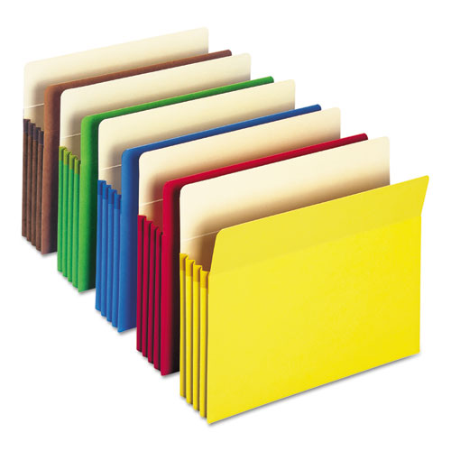 COLORED FILE POCKETS, 3.5