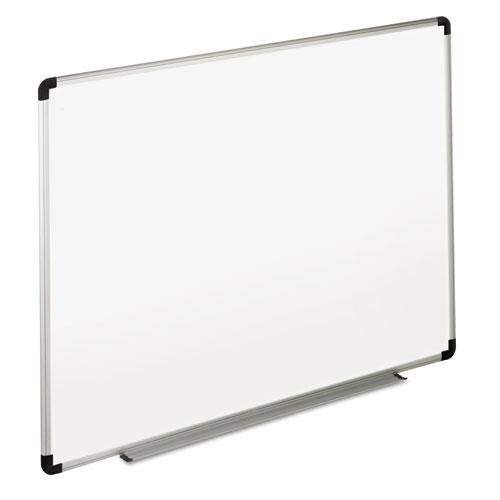 Dry Erase Board, Melamine, 48 X 36, White, Black/gray Aluminum/plastic Frame