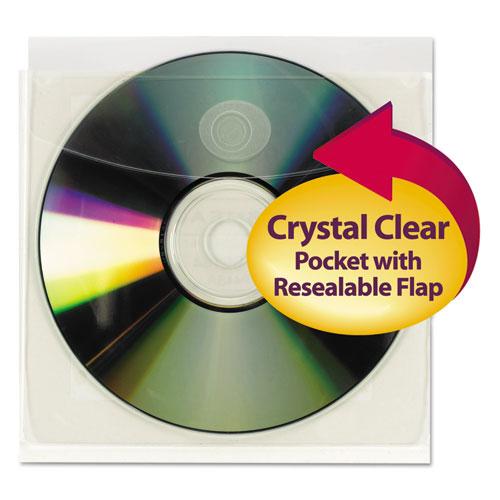 Self-Adhesive Cd/diskette Pockets, 10/pack