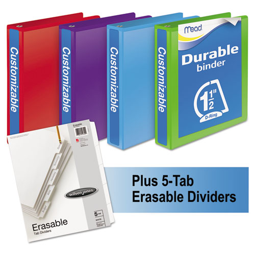 DURABLE D-RING VIEW BINDER PLUS PACK, 3 RINGS, 1.5