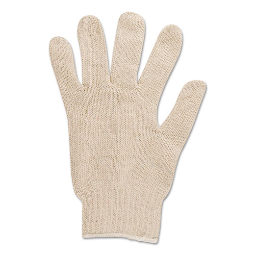 Multiknit Heavy-Duty Cotton/poly Gloves, Size 9, Off White, 12 Pairs