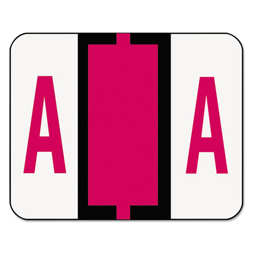 Image for A-Z COLOR-CODED END TAB FILING LABELS, A, 1 X 1.25, WHITE, 500/ROLL