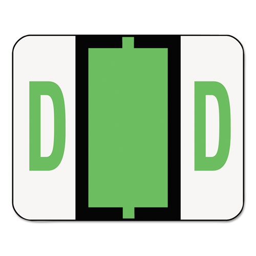 Image for A-Z COLOR-CODED END TAB FILING LABELS, D, 1 X 1.25, WHITE, 500/ROLL