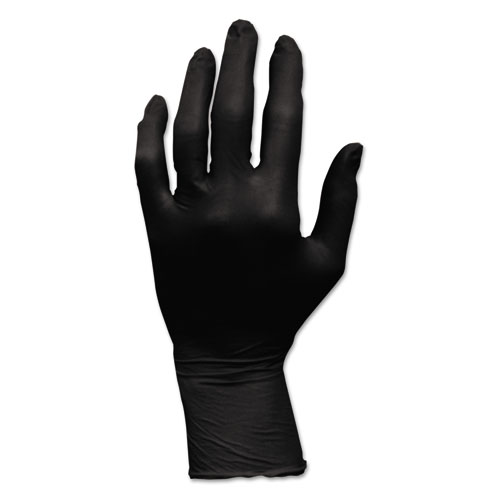 PROWORKS GRIZZLYNITE NITRILE GLOVES, POWDER-FREE, LARGE, BLACK, 100/BOX, 10 BOXES/CARTON