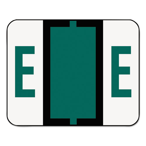 Image for A-Z COLOR-CODED END TAB FILING LABELS, E, 1 X 1.25, WHITE, 500/ROLL
