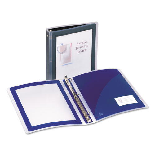 FLEXI-VIEW BINDER WITH ROUND RINGS, 3 RINGS, 1