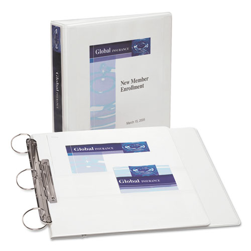 FLIP BACK 360 DURABLE VIEW BINDER WITH ROUND RINGS, 3 RINGS, 1.5