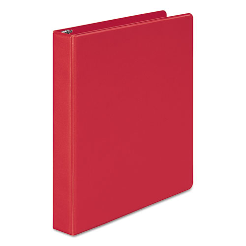 Wilsonjnes 368 Basic Round Ring Binder, 1 Cap, Red