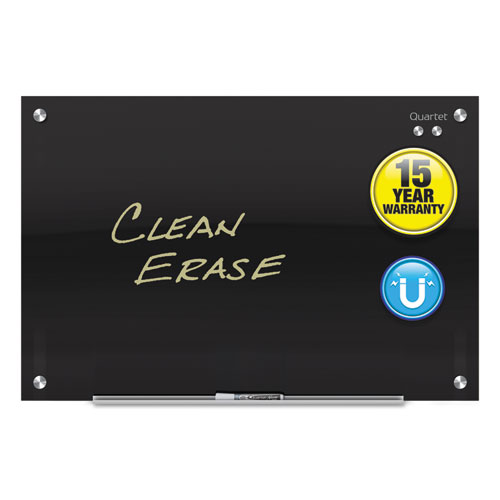 Infinity Black Glass Magnetic Marker Board, 48 X 36