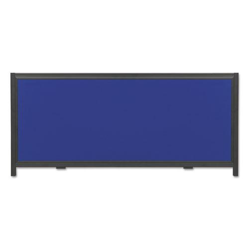 Display System Optional Header Panel, Fabric, 24 X 10, Blue/gray/black Pvc Frame