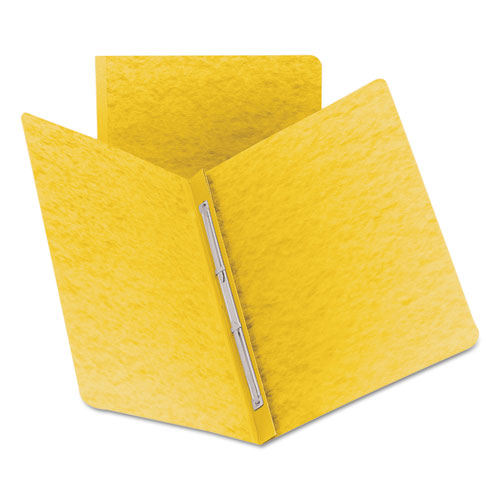 SIDE OPENING PRESS GUARD REPORT COVER, PRONG FASTENER, LETTER, YELLOW