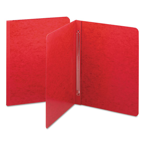 SIDE OPENING PRESS GUARD REPORT COVER, PRONG FASTENER, LETTER, BRIGHT RED
