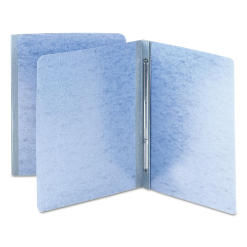 Side Opening Pressboard Report Cover, Prong Fastener, Letter, Blue