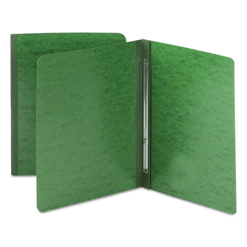 SIDE OPENING PRESS GUARD REPORT COVER, PRONG FASTENER, LETTER, GREEN