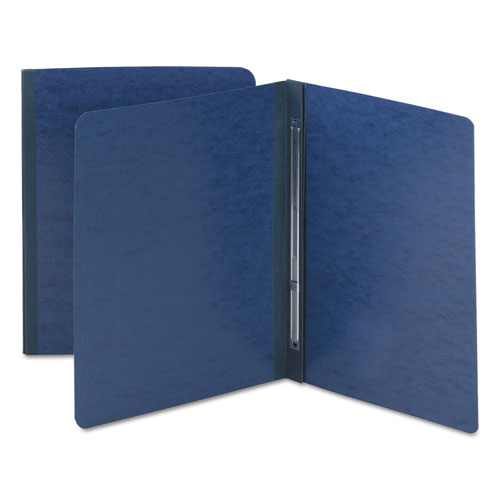 Side Opening Pressboard Report Cover, Prong Fastener, Letter, Dark Blue