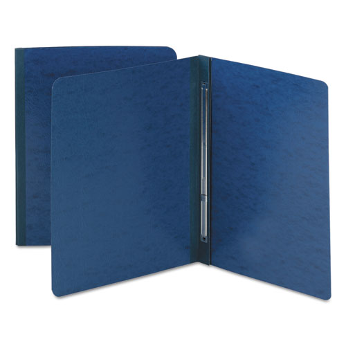SIDE OPENING PRESS GUARD REPORT COVER, PRONG FASTENER, LETTER, DARK BLUE