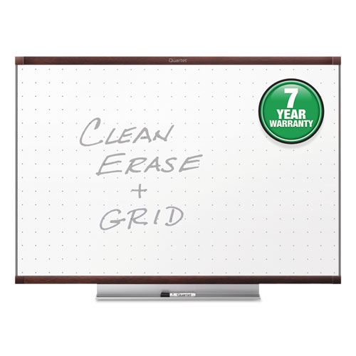 Prestige 2 Total Erase Whiteboard, 72 X 48, Mahogany Color Frame